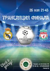 Трансляция финала Лиги Чемпионов УЕФА в ЧЕМПИ